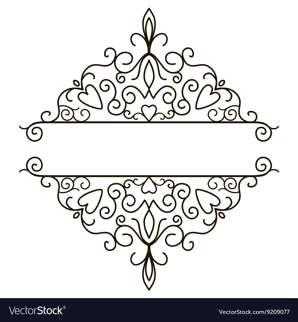 vintage design elements for page border royalty free vector