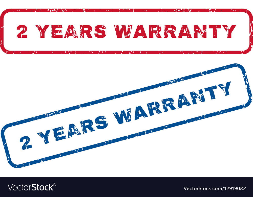 2 Years Warranty Rubber Stamps vector image