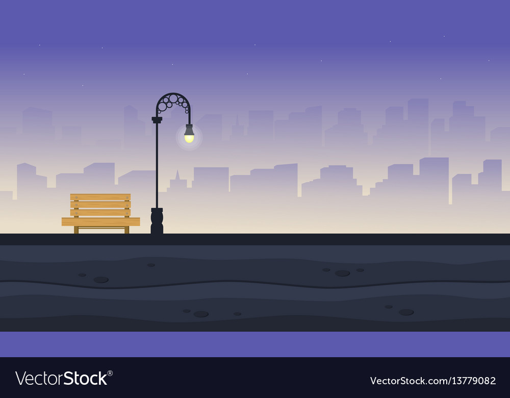 Background of landscape garden style collection vector image