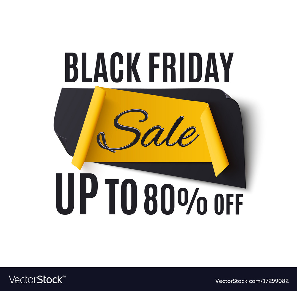 Black friday sale banner isolated on white