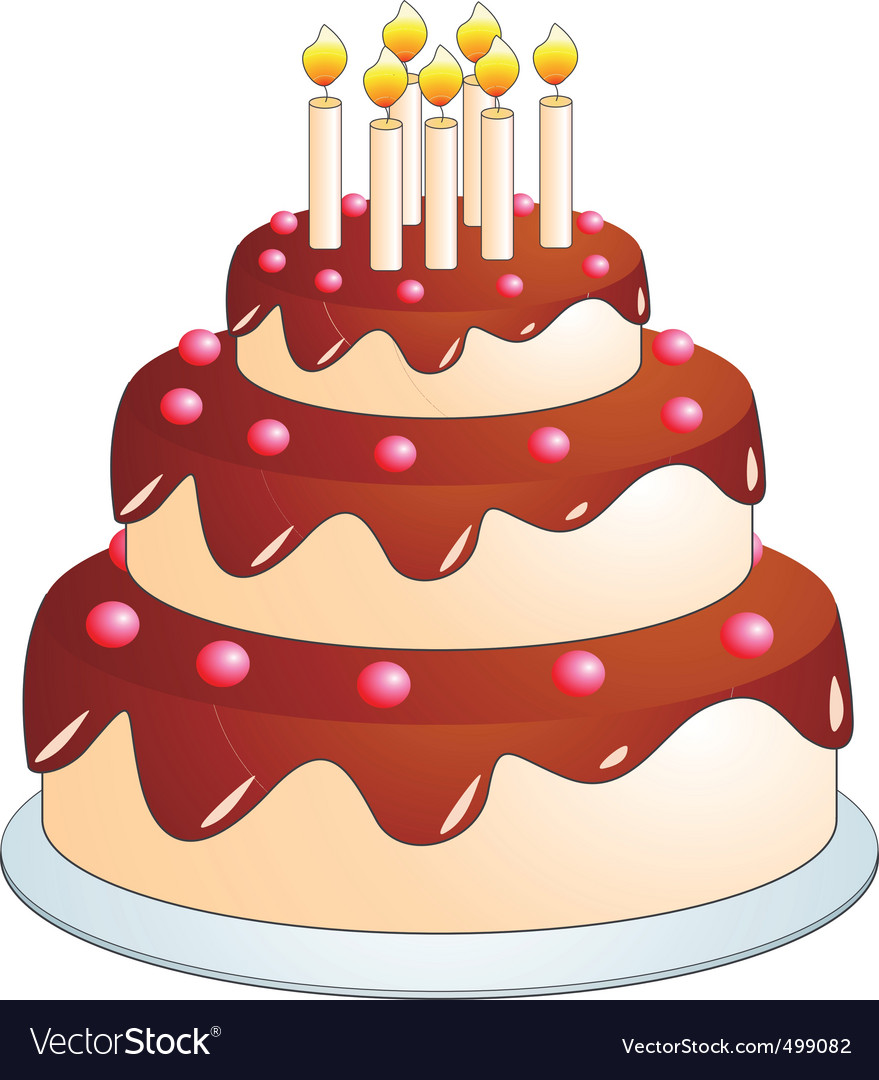 cake cartoon royalty free vector image vectorstock rh vectorstock com cake cartoon images png cartoon cake images with name edit