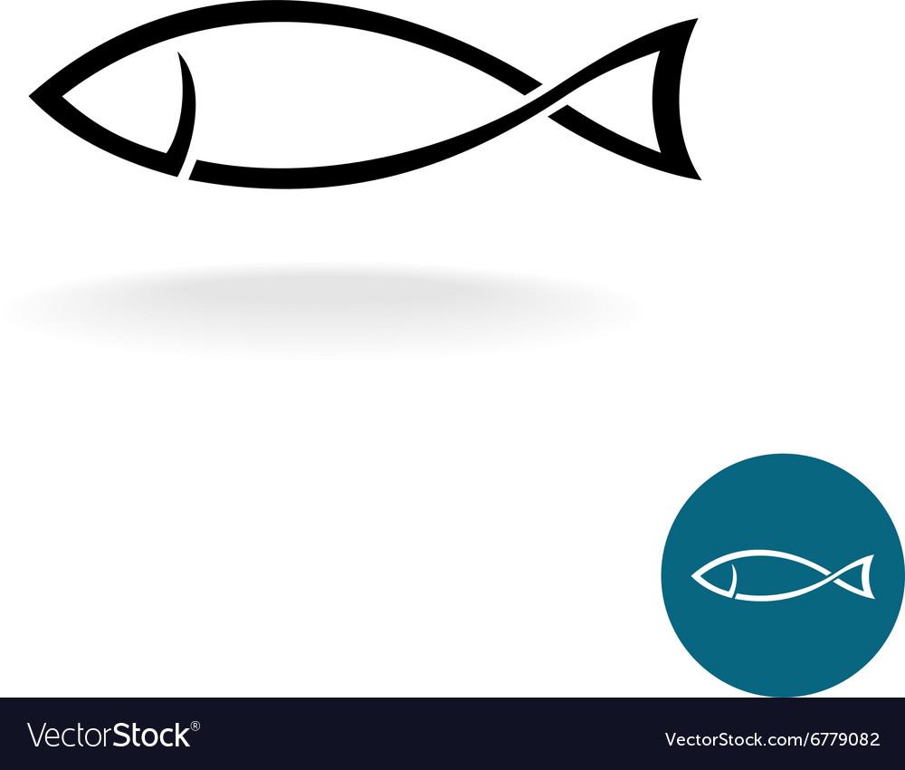 Fish simple black linear silhouette elegance logo