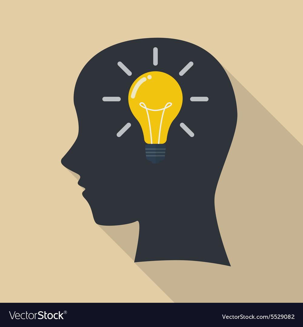 Human Head Thinking A New Idea Royalty Free Vector Image