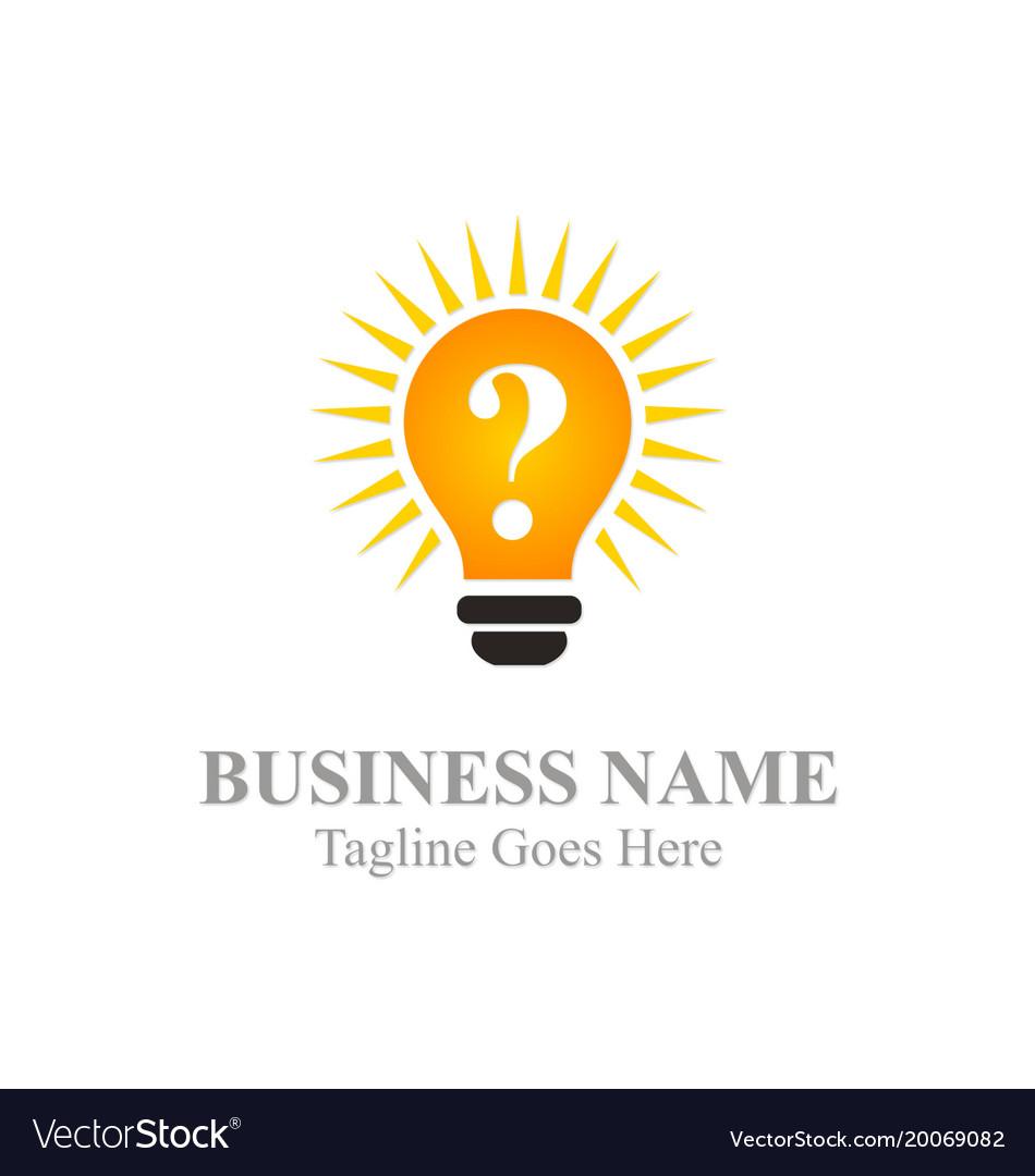 Idea light bulb logo vector image