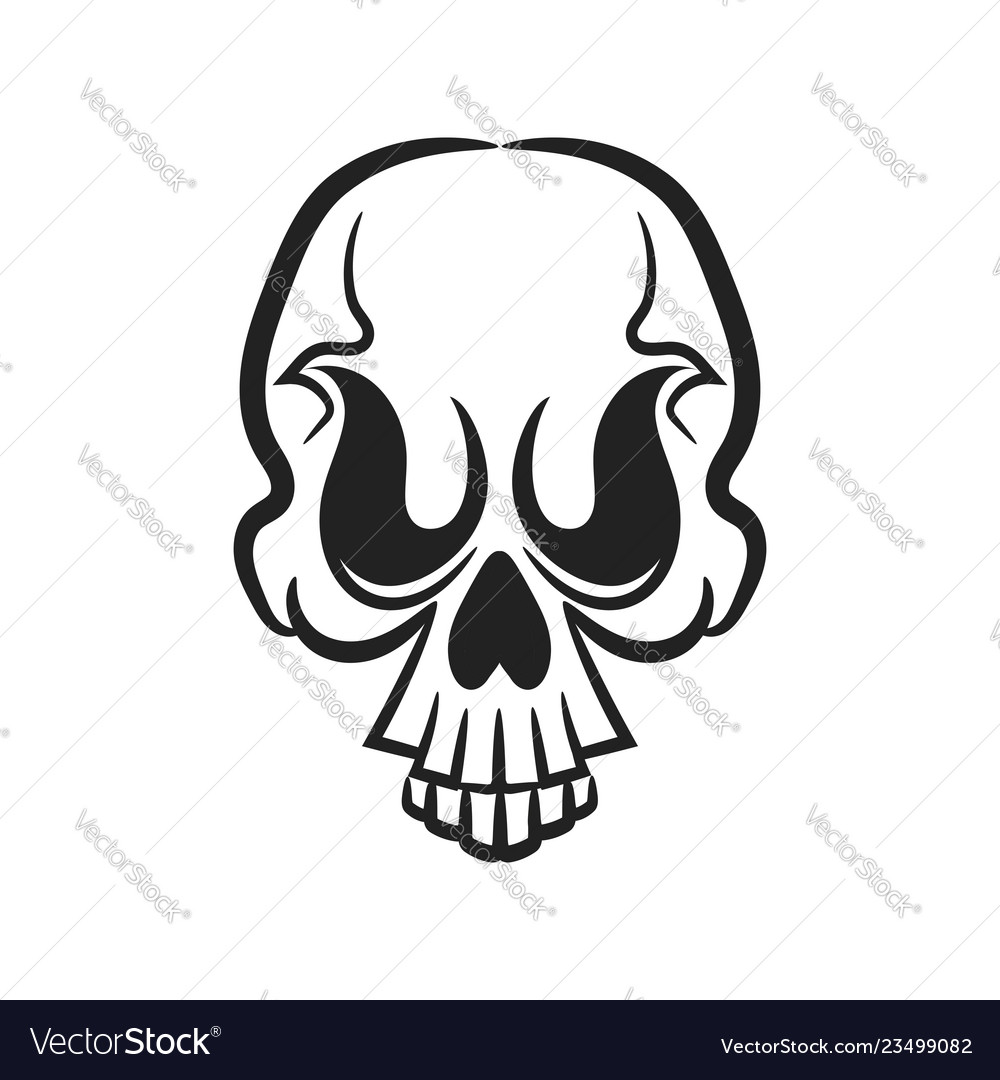 Monochrome of skull