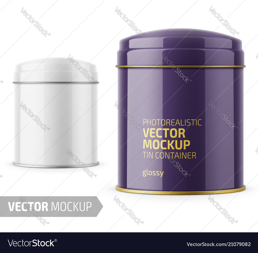 Round glossy tin can template