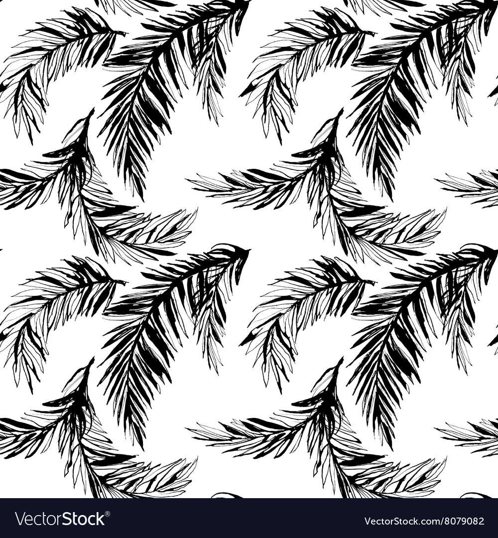 Tropical jungle floral seamless pattern background
