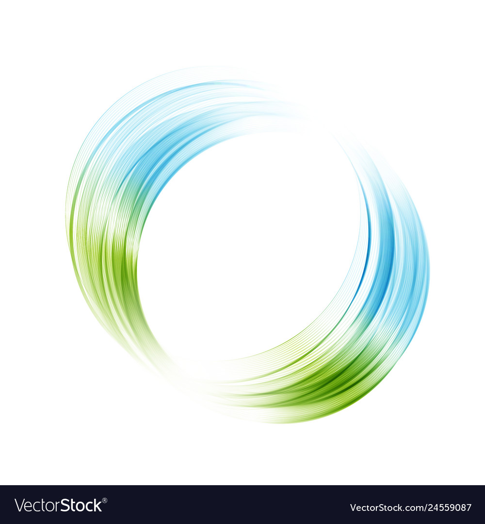 Abstract blue green swirl circle bright