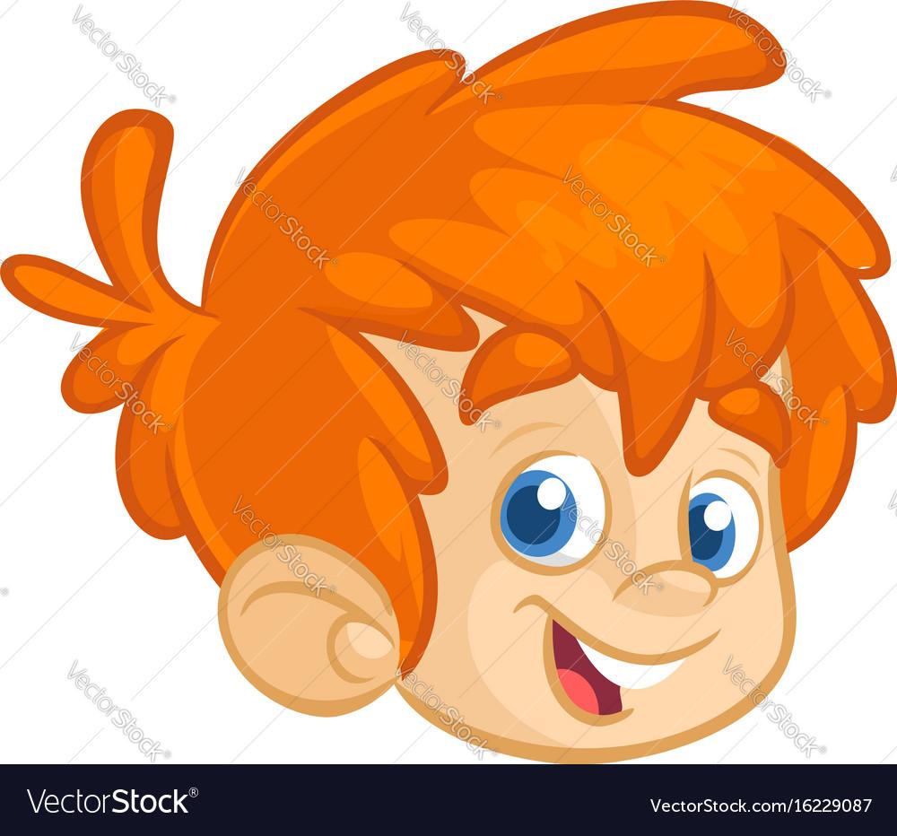 Cartoon boy head vector image