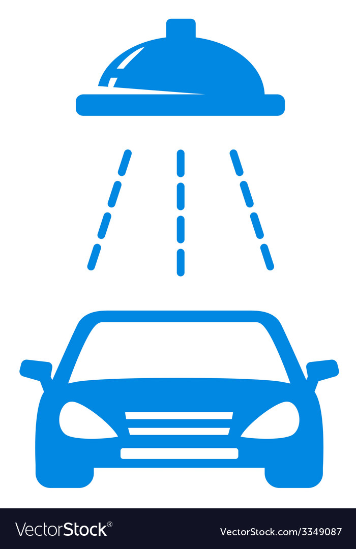 Isolated Blue Car Wash Icon Royalty Free Vector Image