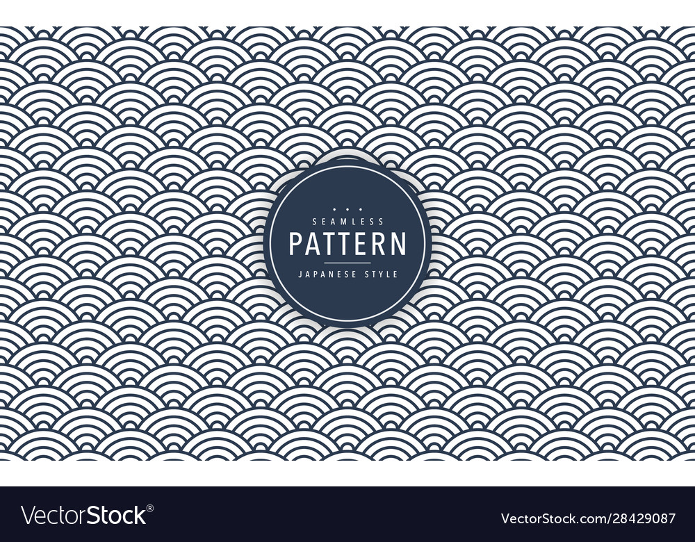 Japanese seamless wave pattern traditional