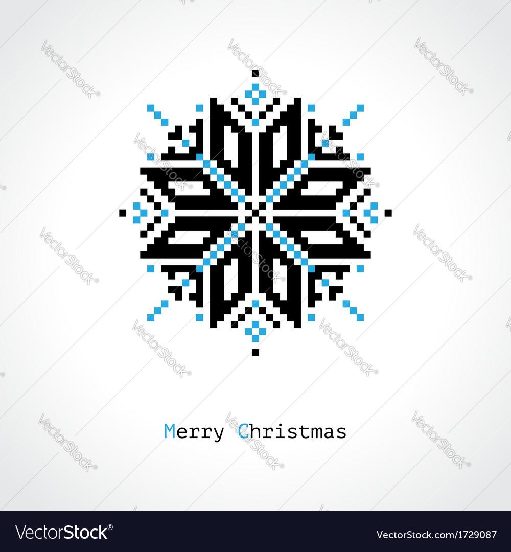 Pixel snowflake