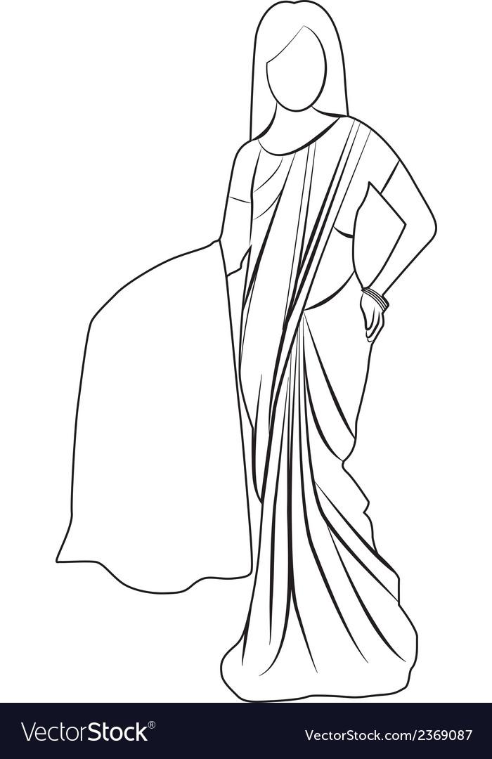 Saree outline
