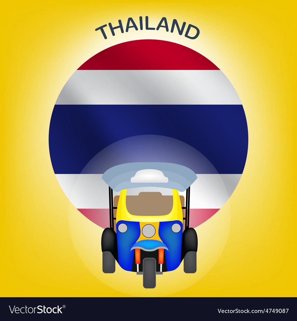 Tuk Tuk in Thailand vector image