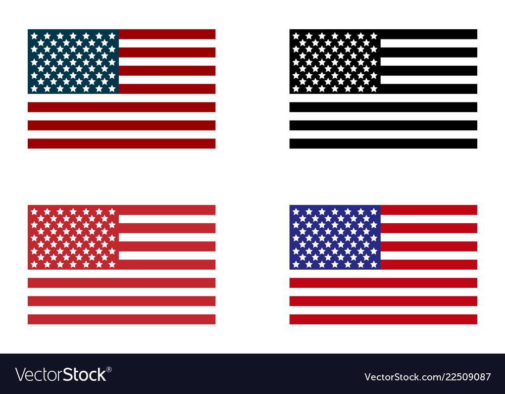 Usa flag set of american flag