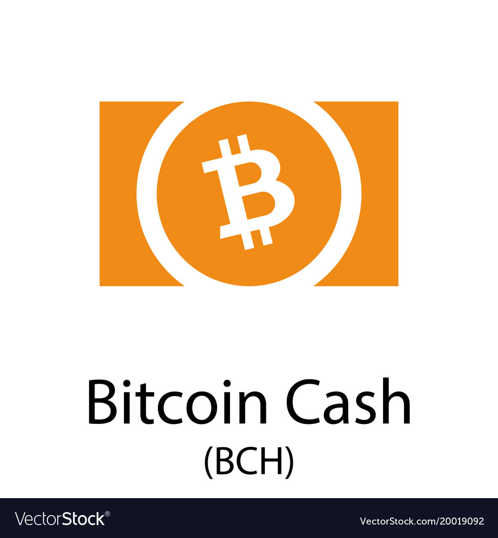 Bitcoin cash cryptocurrency symbol vector image