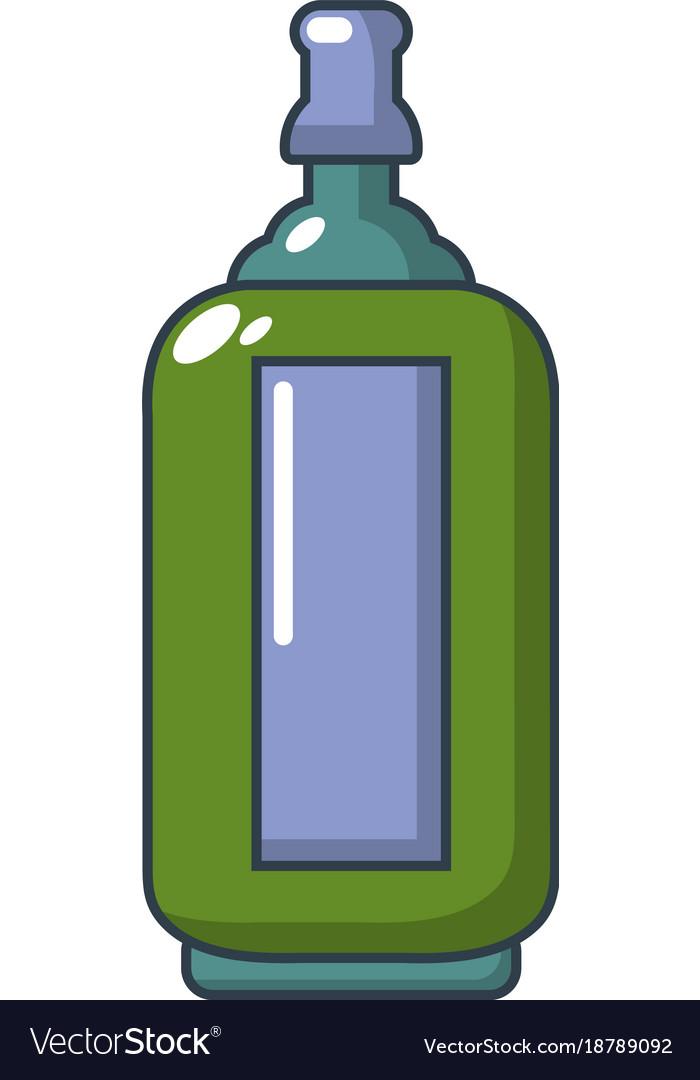 Glass bottle icon cartoon style
