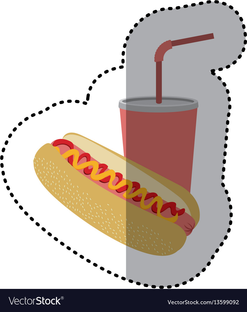 Hot dog and soda icon