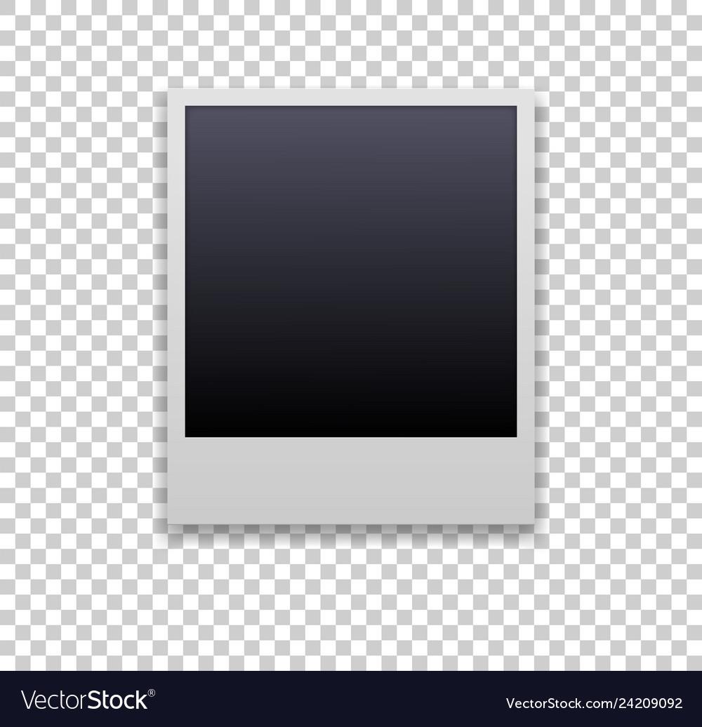 Polaroid frame editable with transparent