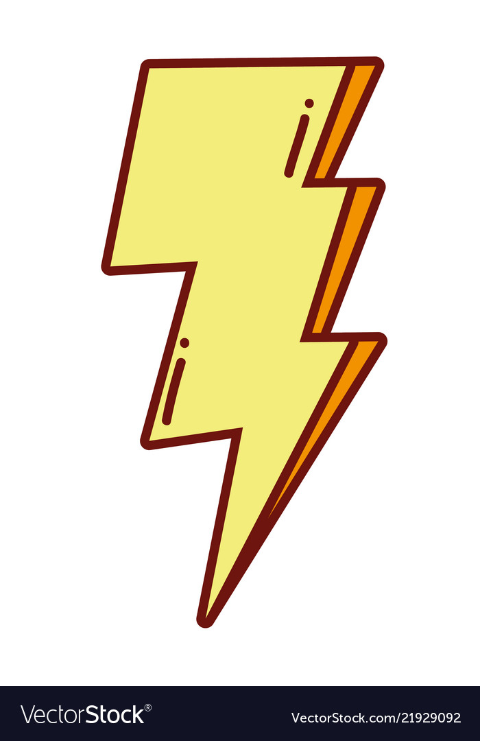 pop art thunder weather style royalty free vector image vectorstock