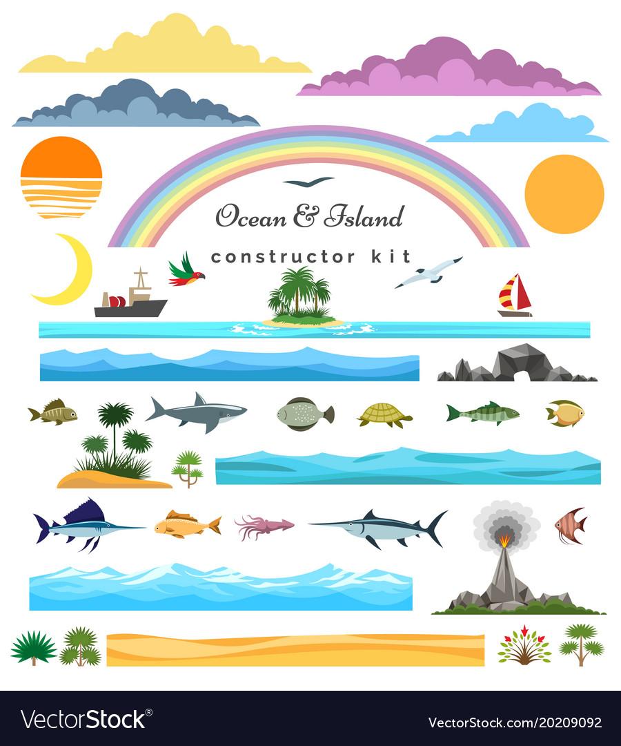 Sea island constructor