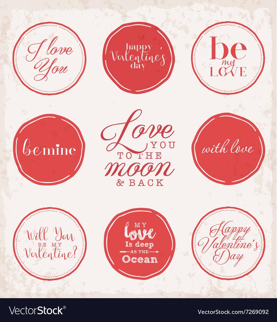 Valentine s Day Vintage Greeting Card Elements