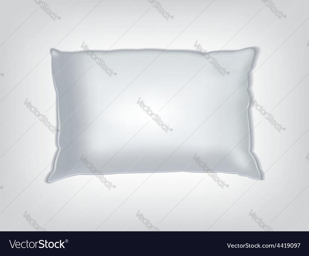 Clean white pillow mockup