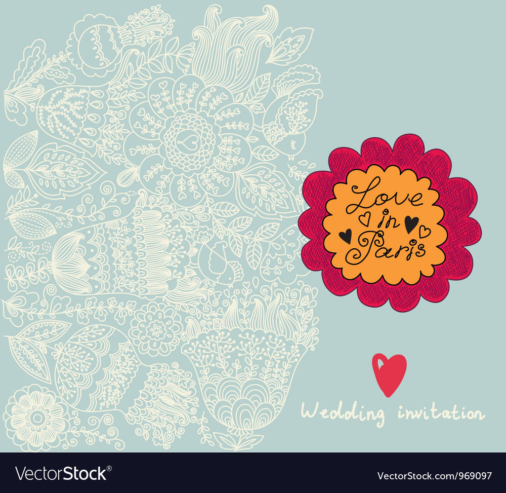 Floral Wedding Invitation Background Royalty Free Vector