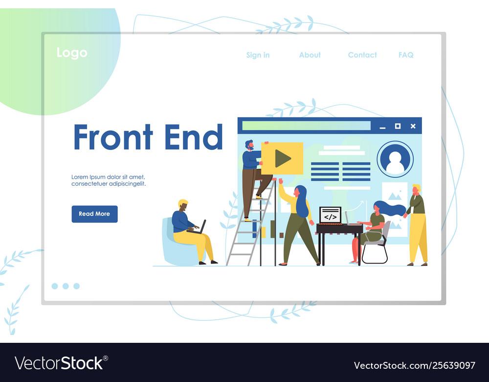 Front end website landing page design
