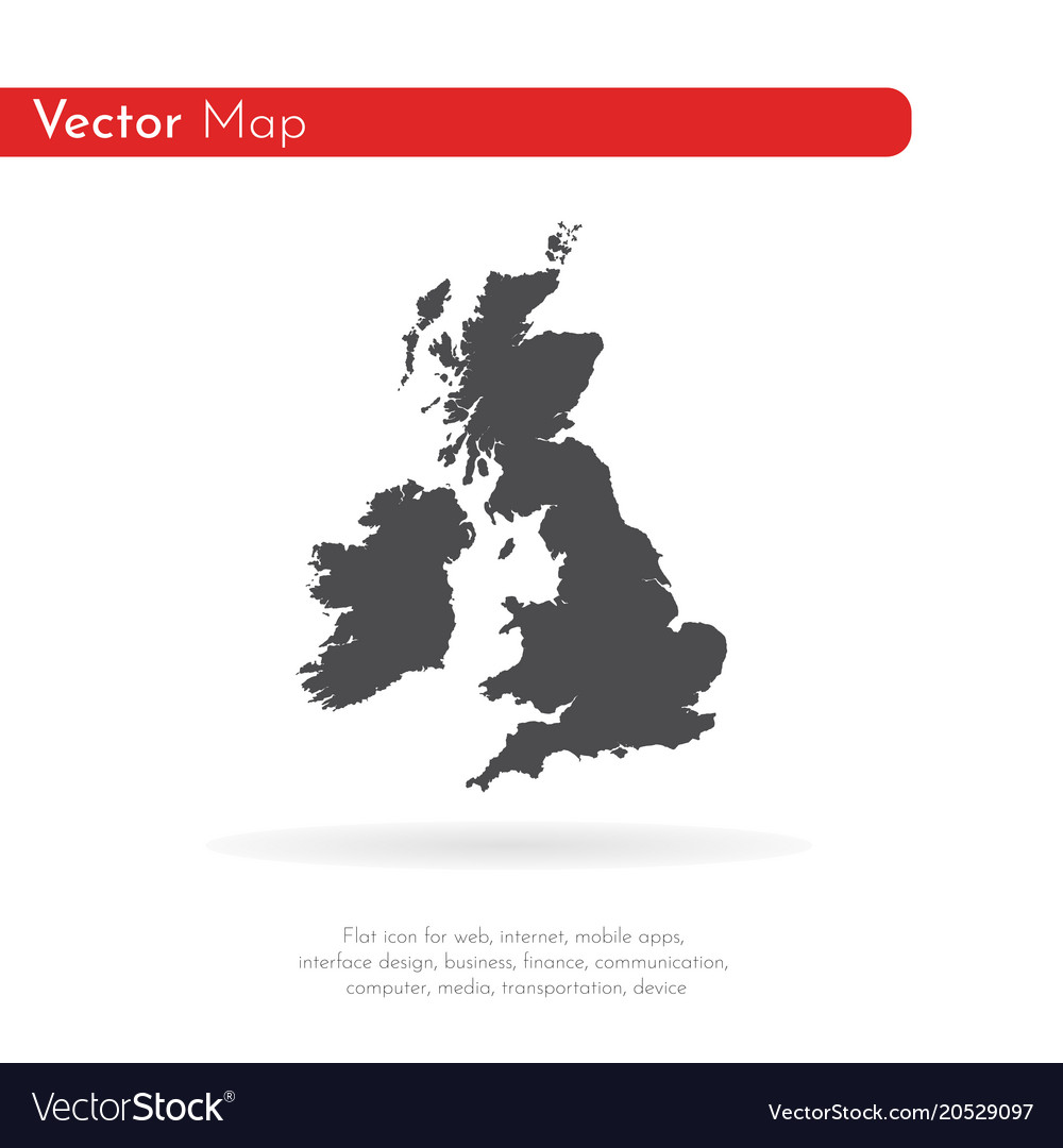 Map great britain isolated