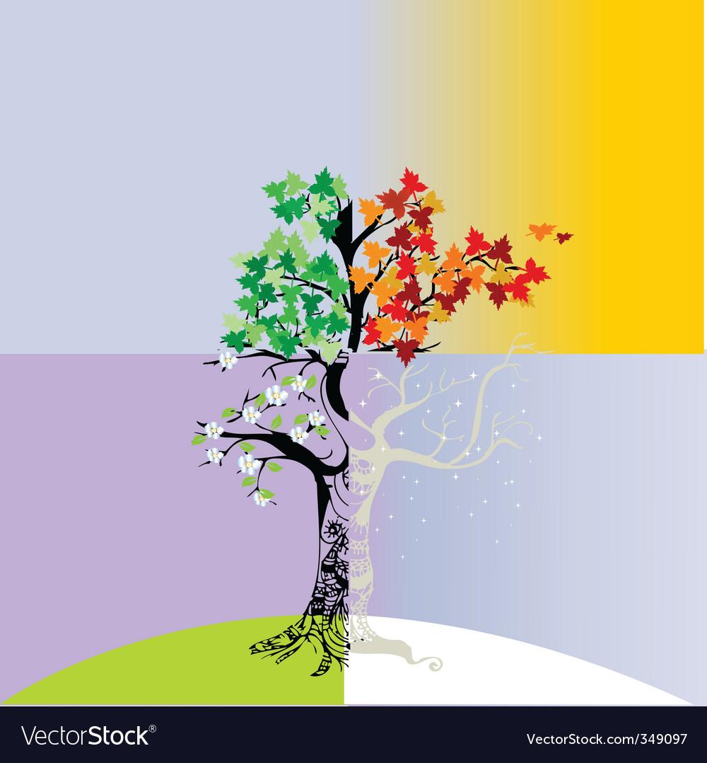 Открытка летнее дерево