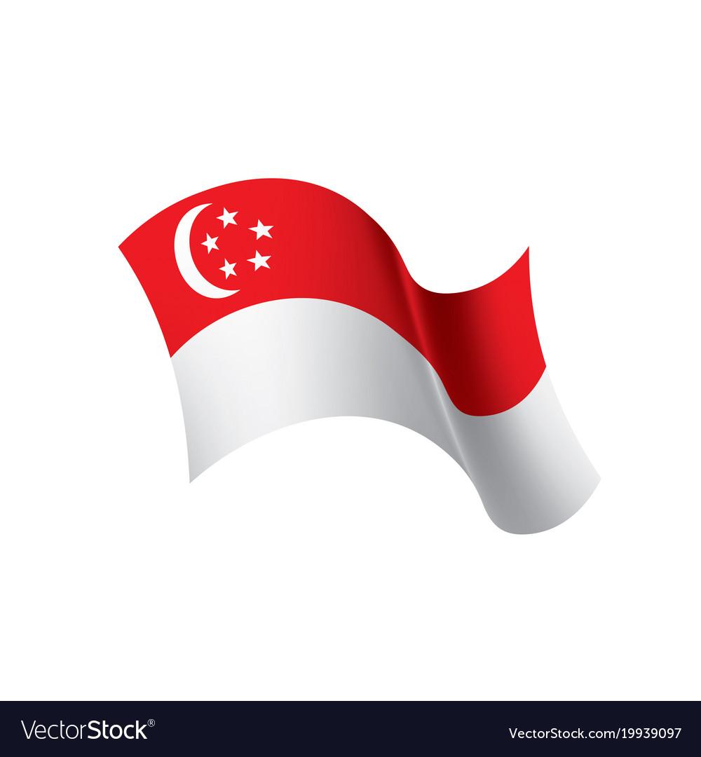 Singapore Flag Royalty Free Vector Image Vectorstock