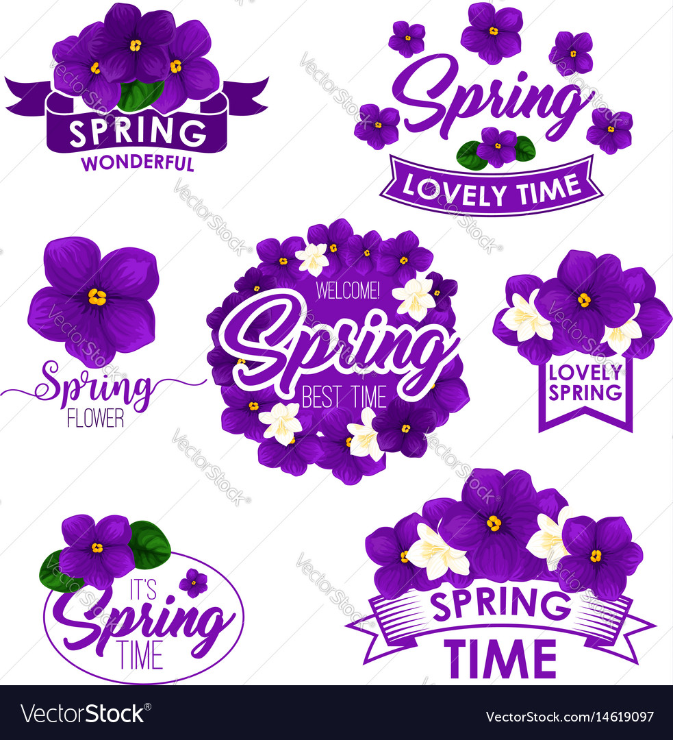 Springtime Greeting Quotes Flowers Design Vector Image