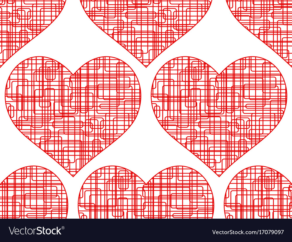 Wire heart pattern vector image