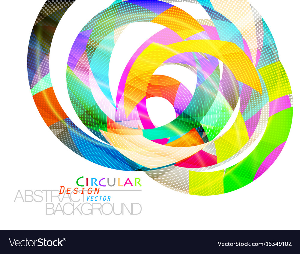 Abstract colors circular shape scene