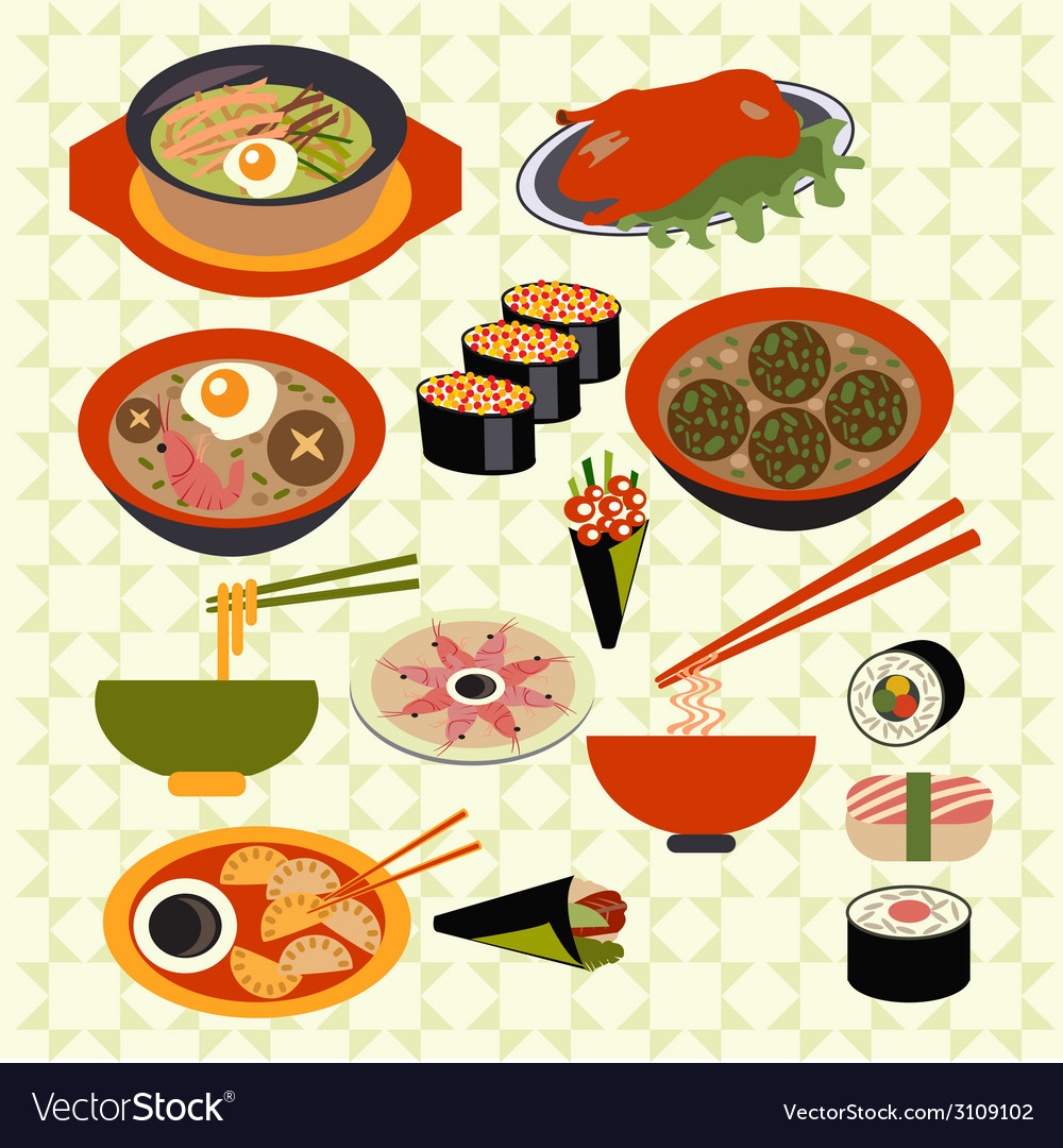 Asian food Japanese dishes