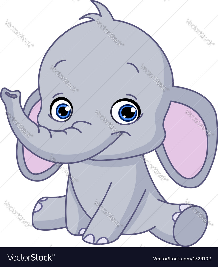 baby elephant royalty free vector image vectorstock baby animal clipart for mac baby animal clipart png