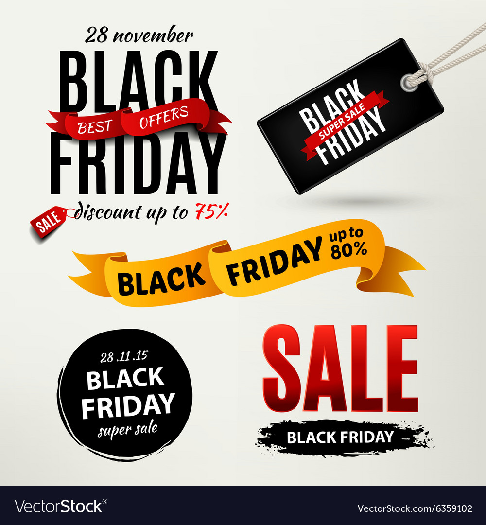 Black friday sale design elements