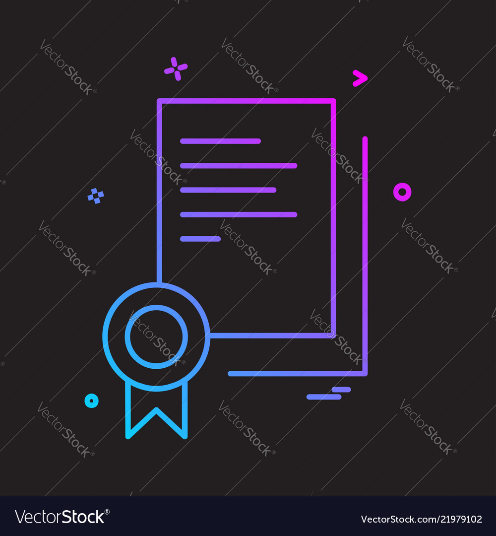Certificate icon design Royalty Free Vector Image