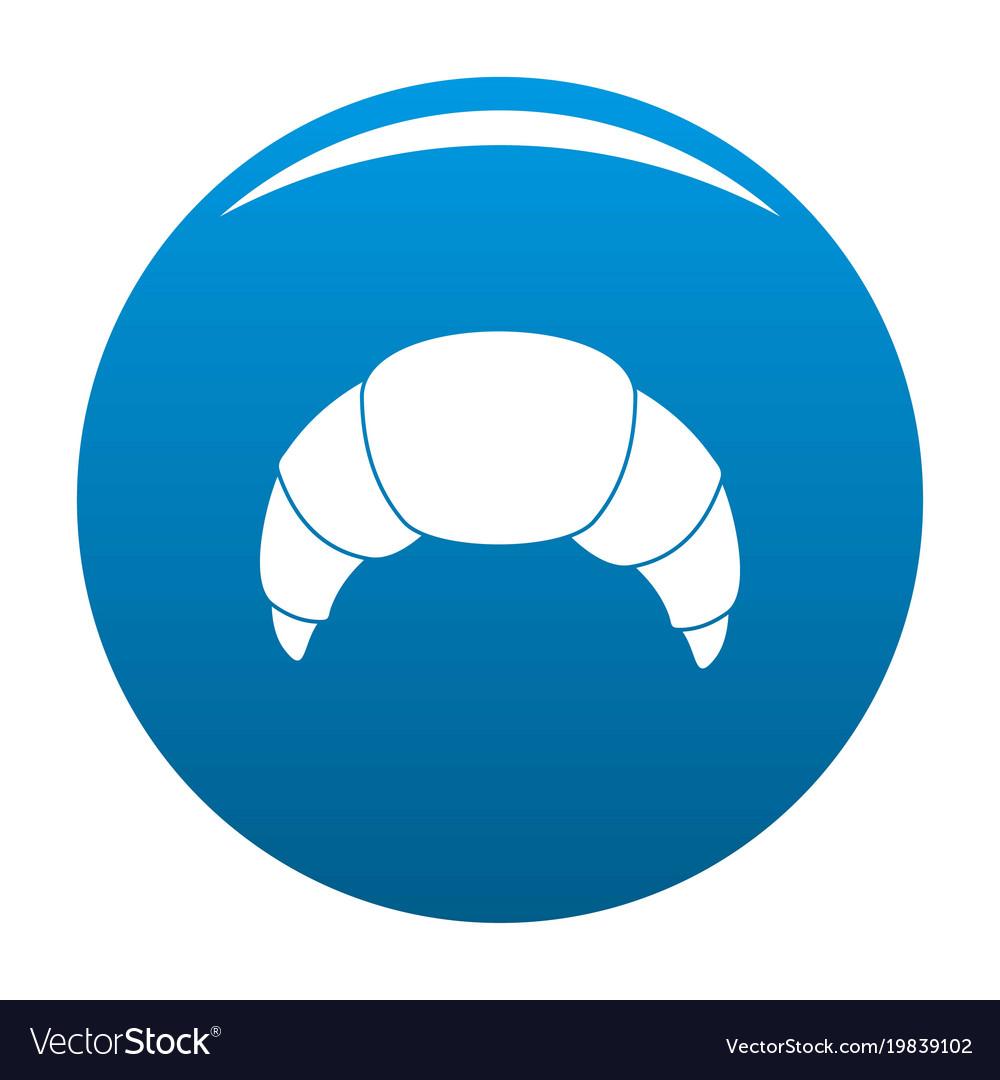 Croissant icon blue