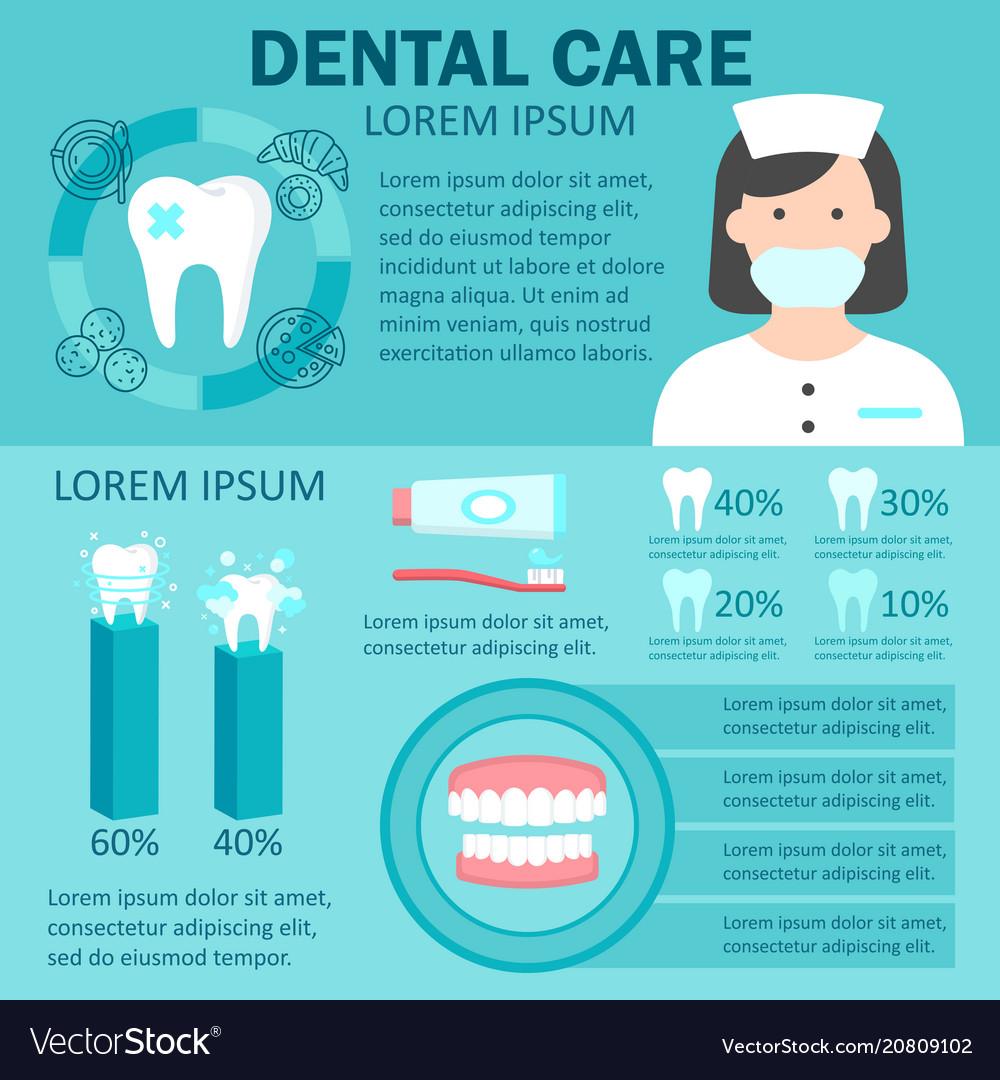 dental-care-infographic-set-vector-20809