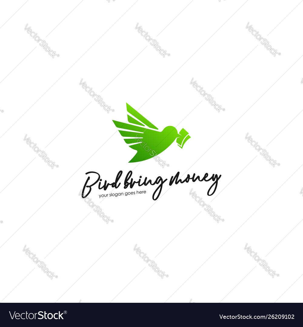 Green bird logo template animal logo concept