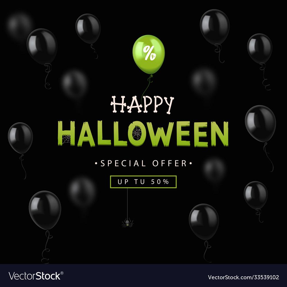 Halloween sale design banner