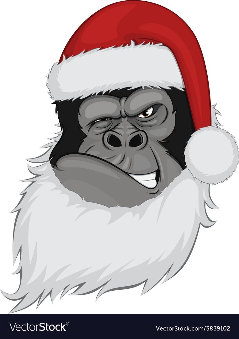 Head gorilla in a cap