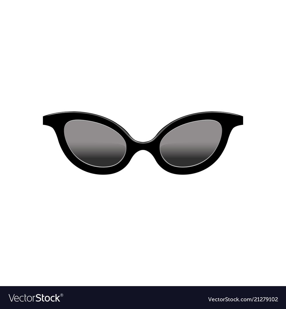 c2da171029f Retro women s cat eye sunglasses with black lenses vector image