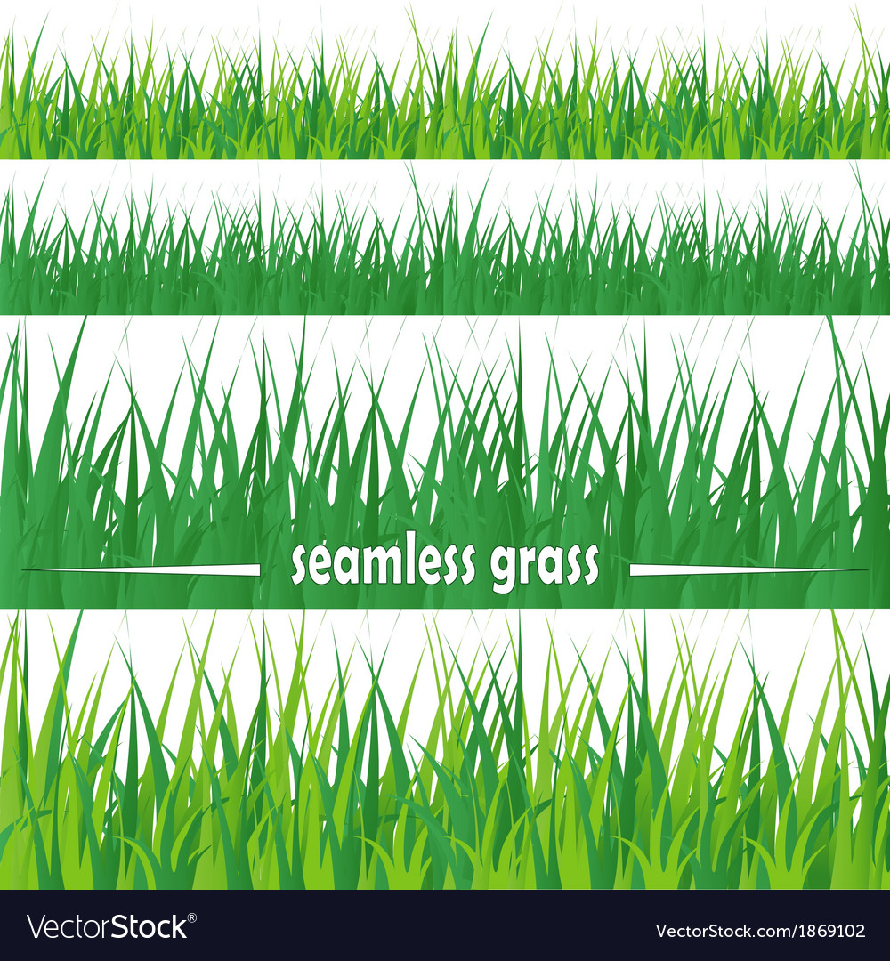 Set seamless grass