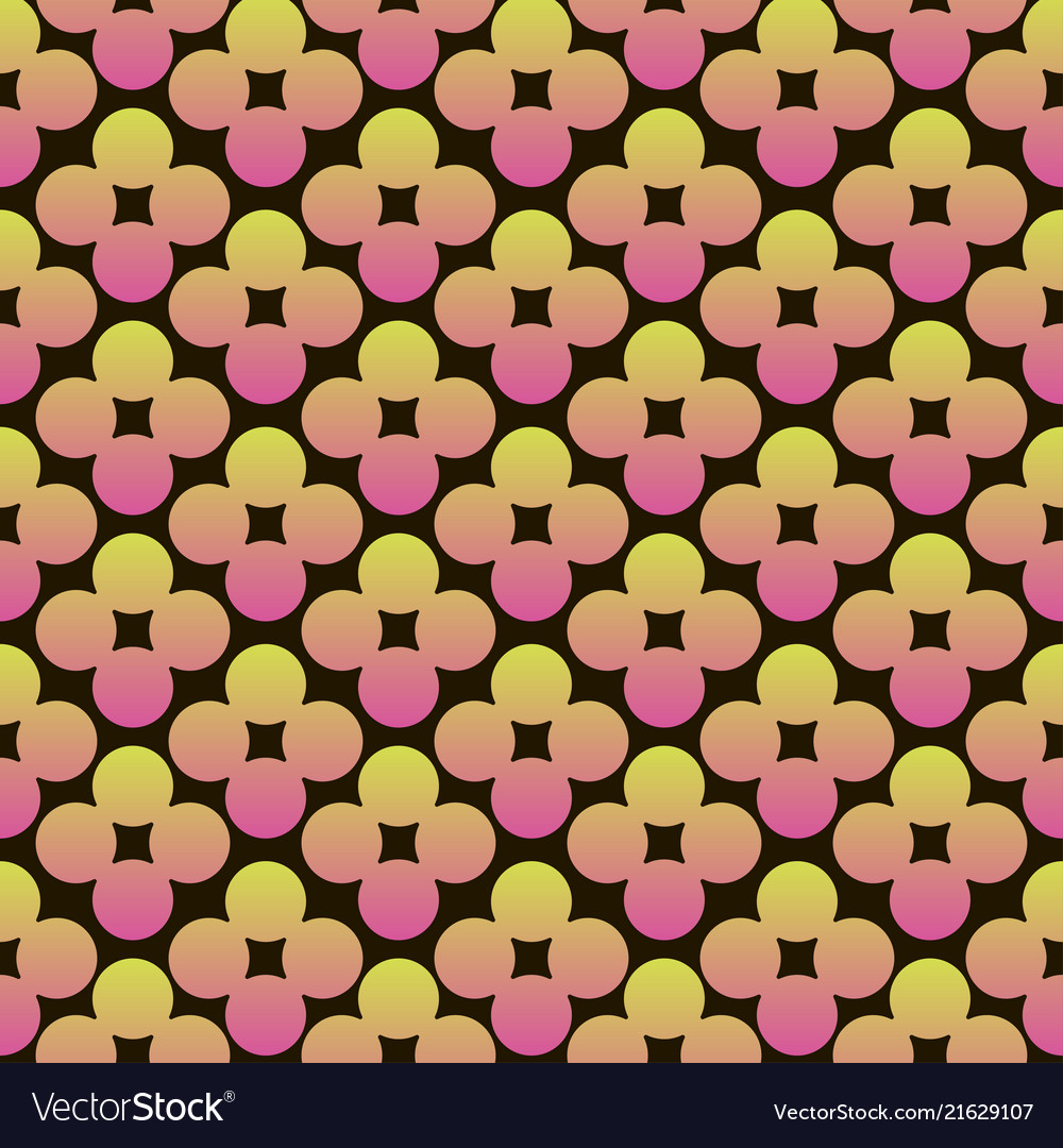 Abstract circles flowers vibrant seamless gradient