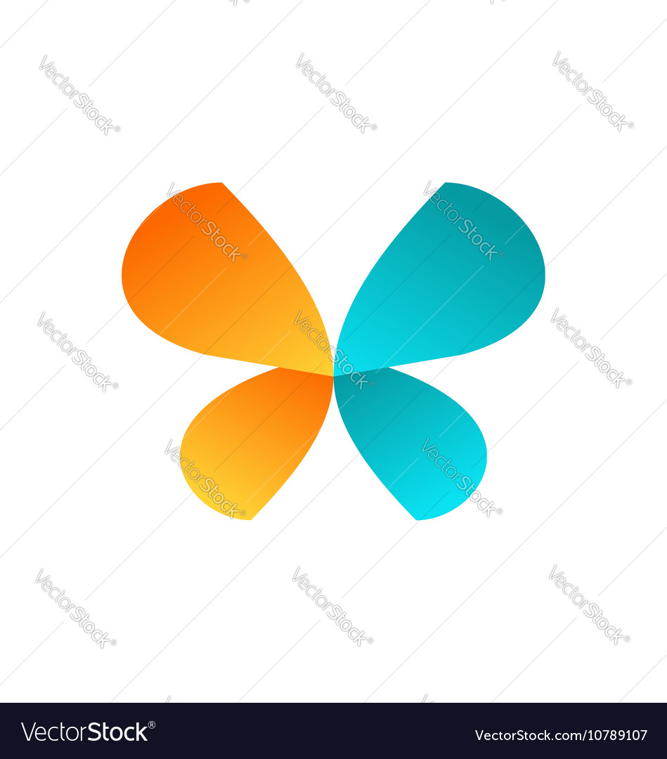 Beauty butterfly logo icon symbol design