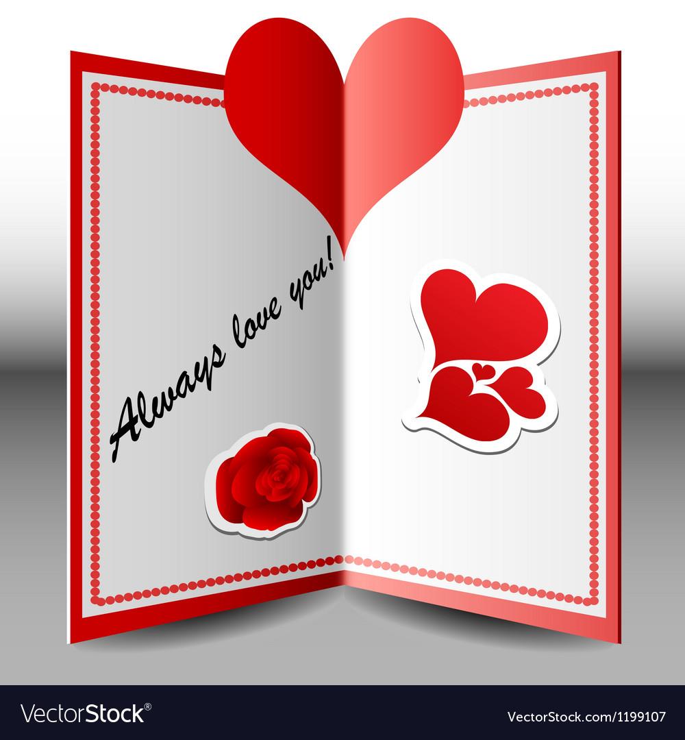 Folded Valentine card