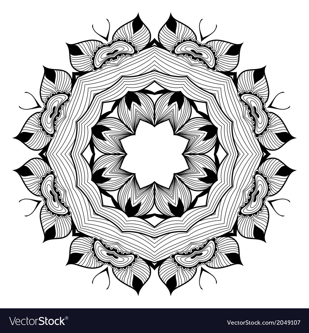 Ornamental round lace pattern is like mandala vector image